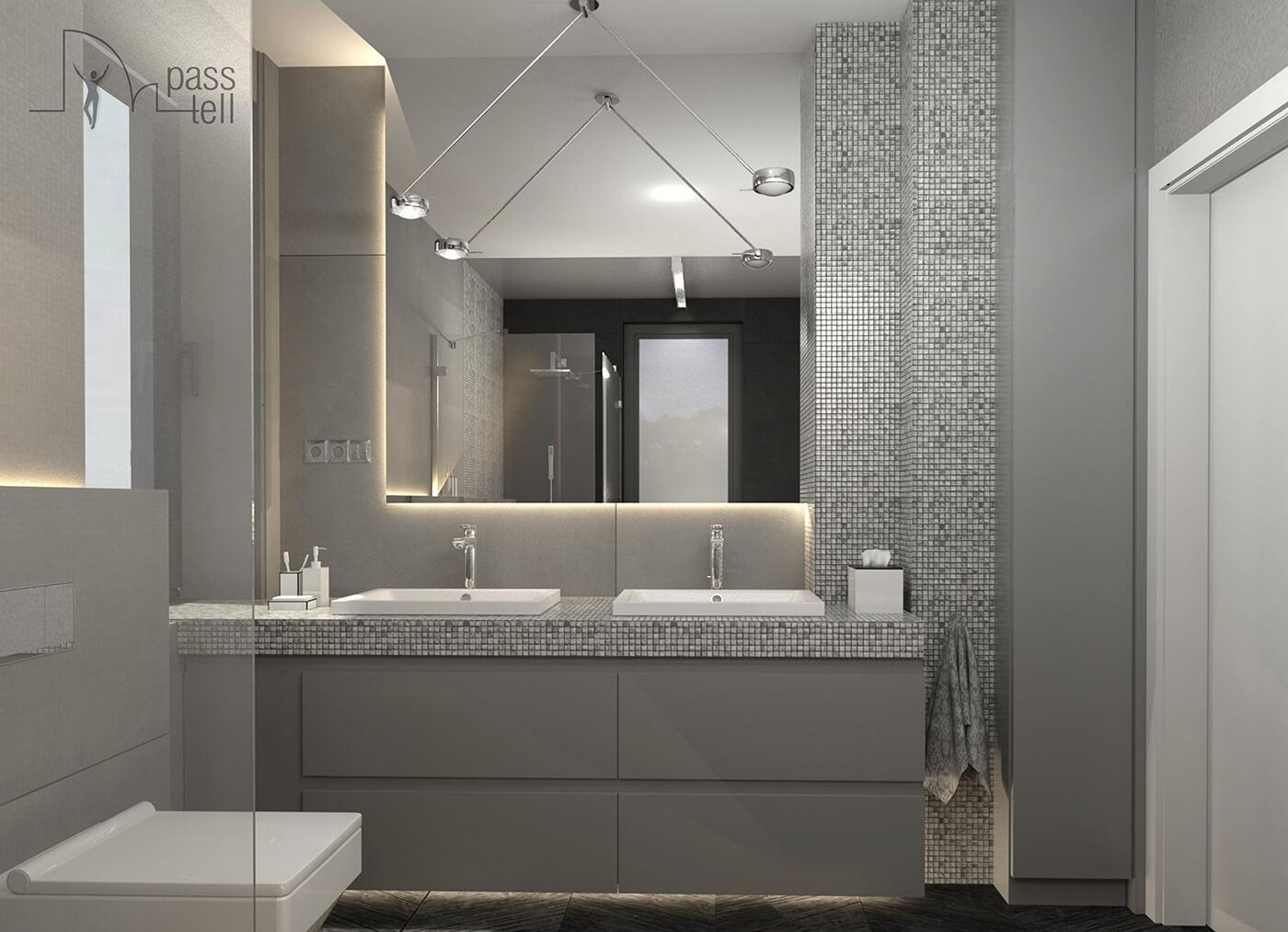 Projekty łazienek Pracownia Projektowa Pass Tell